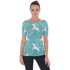Magical Flying Unicorn Pattern Short Sleeve Top by allthingseveryday