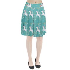 Magical Flying Unicorn Pattern Pleated Skirt