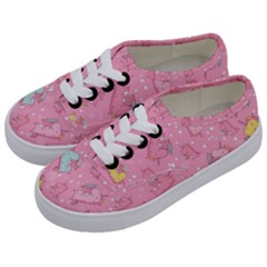 Unicorns Eating Ice Cream Pattern Kids  Classic Low Top Sneakers by allthingseveryday