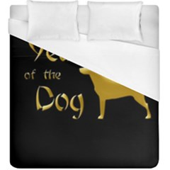 Year Of The Dog   Chinese New Year Duvet Cover (king Size)