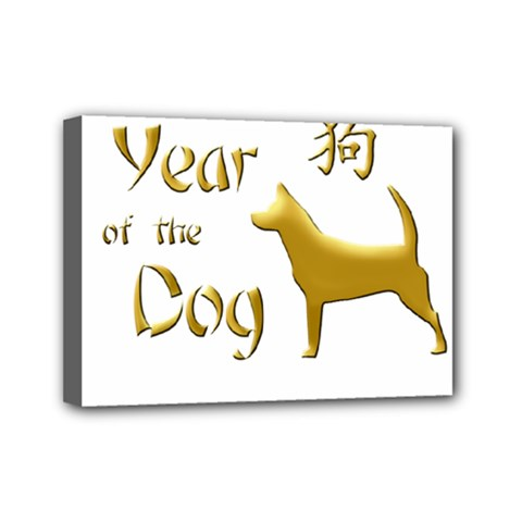 Year Of The Dog   Chinese New Year Mini Canvas 7  X 5  by Valentinaart