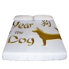 Year Of The Dog   Chinese New Year Fitted Sheet (california King Size)