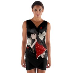 Cupid Girl Wrap Front Bodycon Dress by Valentinaart