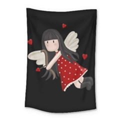 Cupid Girl Small Tapestry by Valentinaart