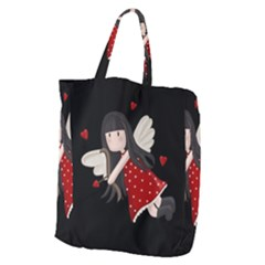 Cupid Girl Giant Grocery Zipper Tote by Valentinaart