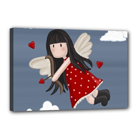 Cupid Girl Canvas 18  X 12  by Valentinaart