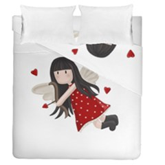 Cupid Girl Duvet Cover Double Side (queen Size)