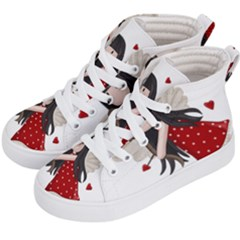 Cupid Girl Kid s Hi Top Skate Sneakers by Valentinaart