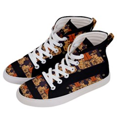 Geisha With Friends In Lotus Garden Having A Calm Evening Women s Hi Top Skate Sneakers by pepitasart