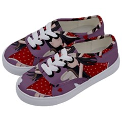 Cupid Girl Kids  Classic Low Top Sneakers by Valentinaart
