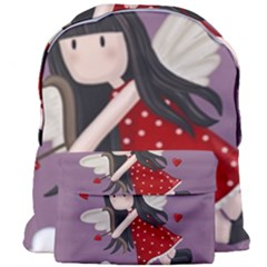 Cupid Girl Giant Full Print Backpack by Valentinaart