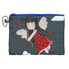 Cupid Girl Canvas Cosmetic Bag (xl) by Valentinaart