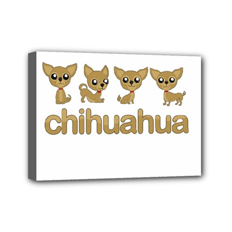 Chihuahua Mini Canvas 7  X 5  by Valentinaart