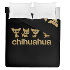 Chihuahua Duvet Cover Double Side (queen Size) by Valentinaart
