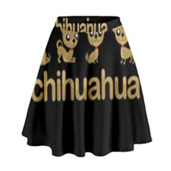 Chihuahua High Waist Skirt by Valentinaart