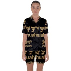 Chihuahua Satin Short Sleeve Pyjamas Set