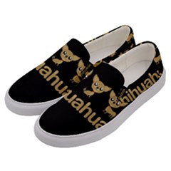 Chihuahua Men s Canvas Slip Ons by Valentinaart
