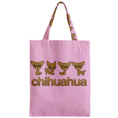 Chihuahua Zipper Classic Tote Bag by Valentinaart