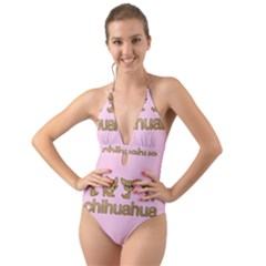 Chihuahua Halter Cut-out One Piece Swimsuit