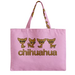 Chihuahua Zipper Medium Tote Bag by Valentinaart