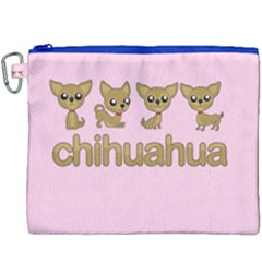 Chihuahua Canvas Cosmetic Bag (xxxl) by Valentinaart