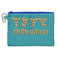 Chihuahua Canvas Cosmetic Bag (xl) by Valentinaart