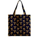 Chihuahua pattern Zipper Grocery Tote Bag View1