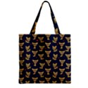 Chihuahua pattern Zipper Grocery Tote Bag View2