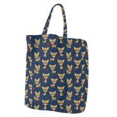 Chihuahua Pattern Giant Grocery Zipper Tote by Valentinaart
