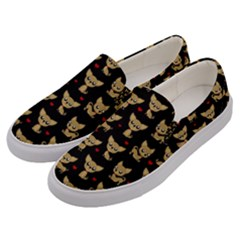 Chihuahua Pattern Men s Canvas Slip Ons by Valentinaart