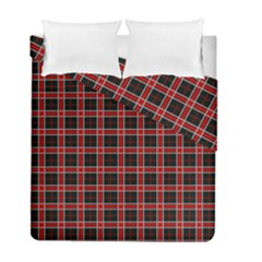 Coke Tartan Duvet Cover Double Side (full/ Double Size)