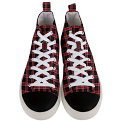 Coke Tartan Men s Mid Top Canvas Sneakers