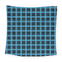 Deep Sea Tartan Square Tapestry (large) by jumpercat