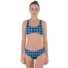 Deep Sea Tartan Criss Cross Bikini Set
