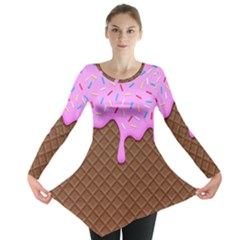 Chocolate And Strawberry Icecream Long Sleeve Tunic  by jumpercat