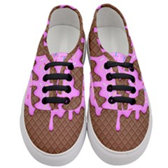 Chocolate And Strawberry Icecream Women s Classic Low Top Sneakers
