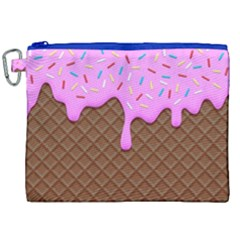 Chocolate And Strawberry Icecream Canvas Cosmetic Bag (xxl)