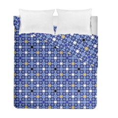 Persian Block Sky Duvet Cover Double Side (full/ Double Size) by jumpercat