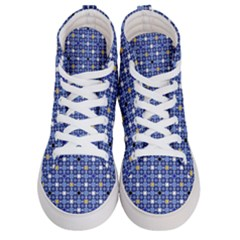 Persian Block Sky Men s Hi Top Skate Sneakers