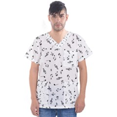 Music Tones Light Men s V Neck Scrub Top