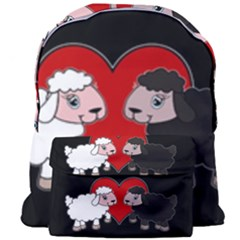 Valentines Day   Sheep  Giant Full Print Backpack