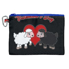 Valentines Day   Sheep  Canvas Cosmetic Bag (xl) by Valentinaart
