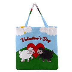 Valentines Day   Sheep  Grocery Tote Bag by Valentinaart
