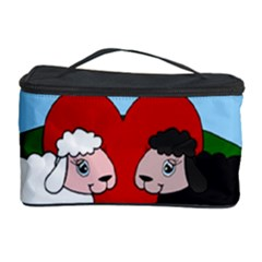 Valentines Day   Sheep  Cosmetic Storage Case by Valentinaart