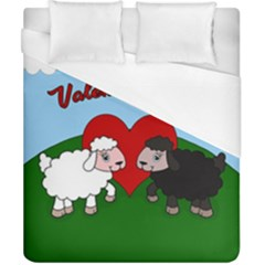 Valentines Day   Sheep  Duvet Cover (california King Size)