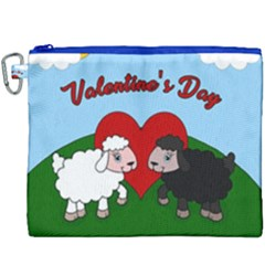 Valentines Day   Sheep  Canvas Cosmetic Bag (xxxl) by Valentinaart