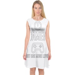 Gamer Capsleeve Midi Dress by Valentinaart