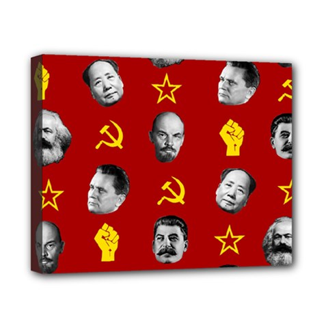 Communist Leaders Canvas 10  X 8  by Valentinaart