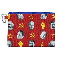 Communist Leaders Canvas Cosmetic Bag (xl) by Valentinaart