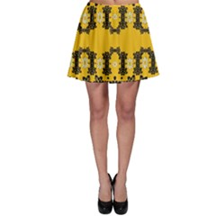Ornate Circulate Is Festive In Flower Decorative Skater Skirt by pepitasart